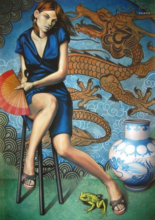 fran_recacha_the_princess_the_dragon_and_the_frog_116x81cm_2013